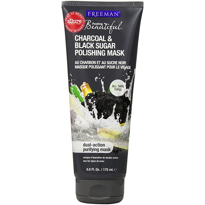Best Peel-Off Face Masks - Freeman Charcoal and Black Sugar Polishing Mask