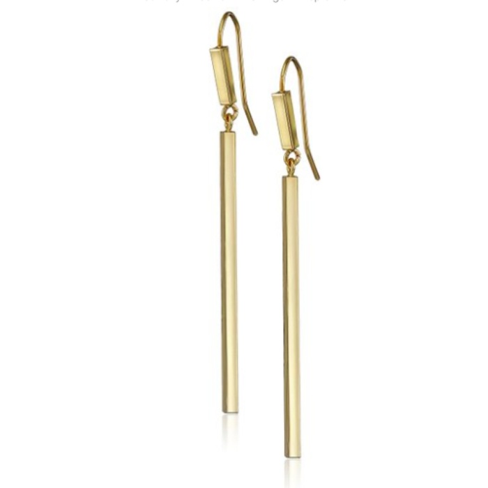 Best Bar Earrings - French Connection Rectangle Bar Double French Wire Drop Earrings