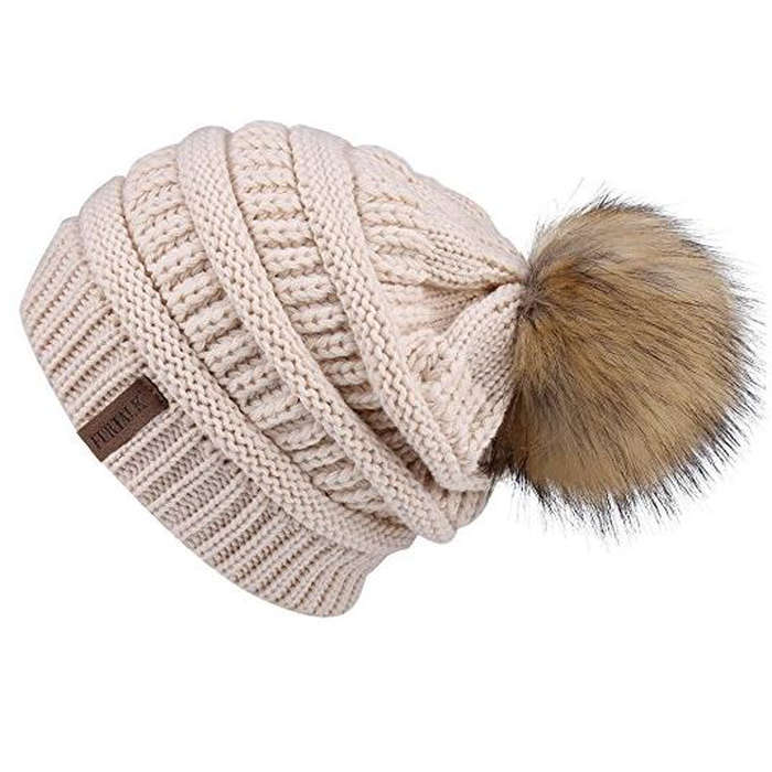 Best Apres Ski Essentials - FURTALK Winter Slouchy Knit Beanie