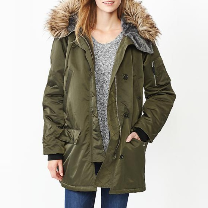 Best Parkas Under $500 - Gap Fur-Trim Snorkel Parka