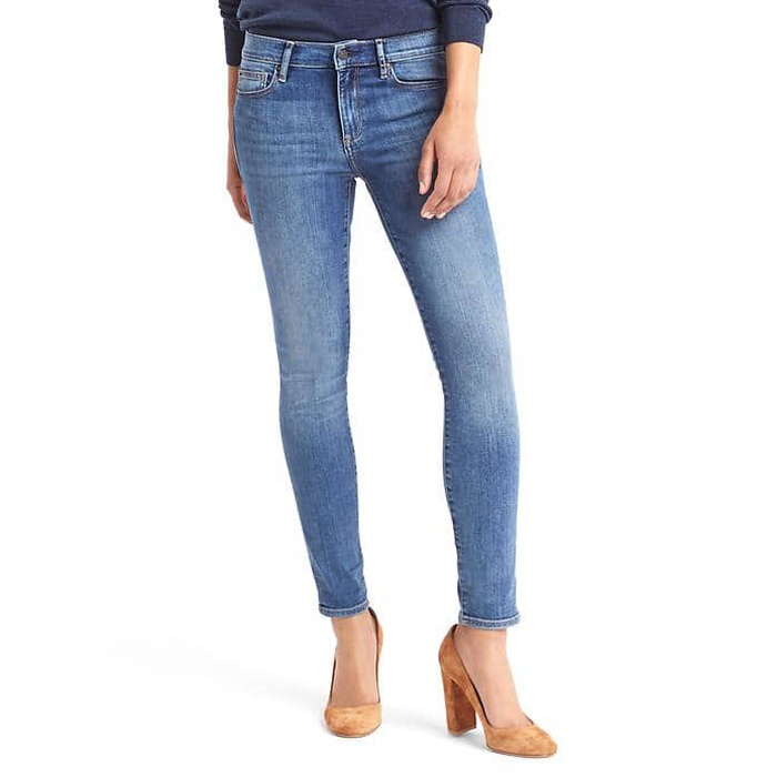 Best Skinny Jeans Under $100 - GAP Mid Rise True Skinny Jeans