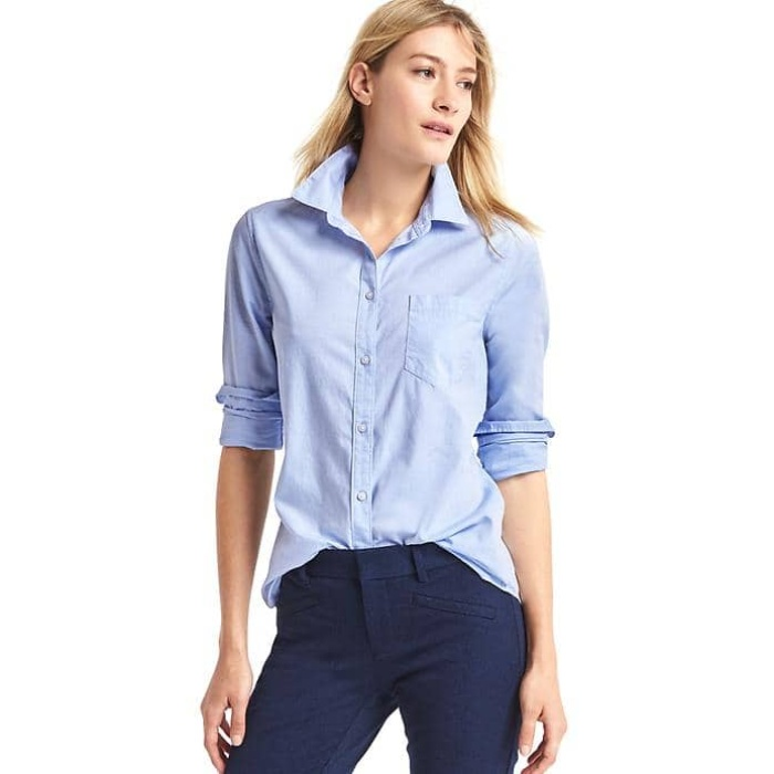 Best Boyfriend Button-Down Shirts - Gap New Fitted Boyfriend Oxford Shirt