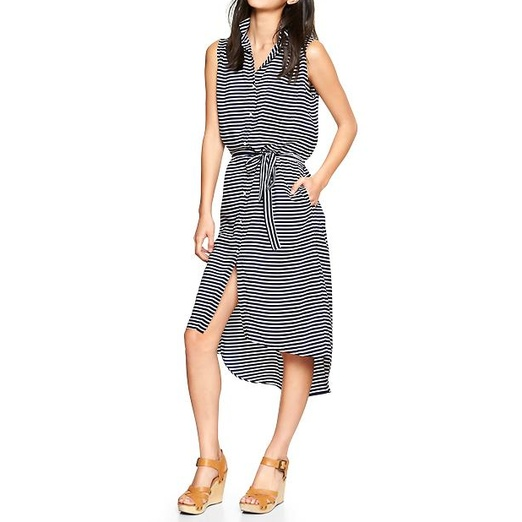 Best Shirt Dresses - Gap Stripe Boyfriend Shirtdress