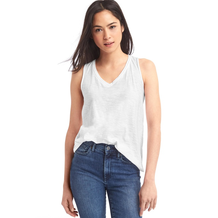 Best White Tank Tops - GAP V-Back Tank