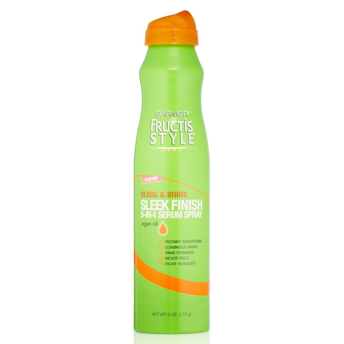 Best Hair Shine Sprays - Garnier Sleek And Shine Sleek Finish 5-In-1 Serum Spray