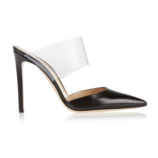 Best Mules - Gianvito Rossi Leather and PVC Pumps