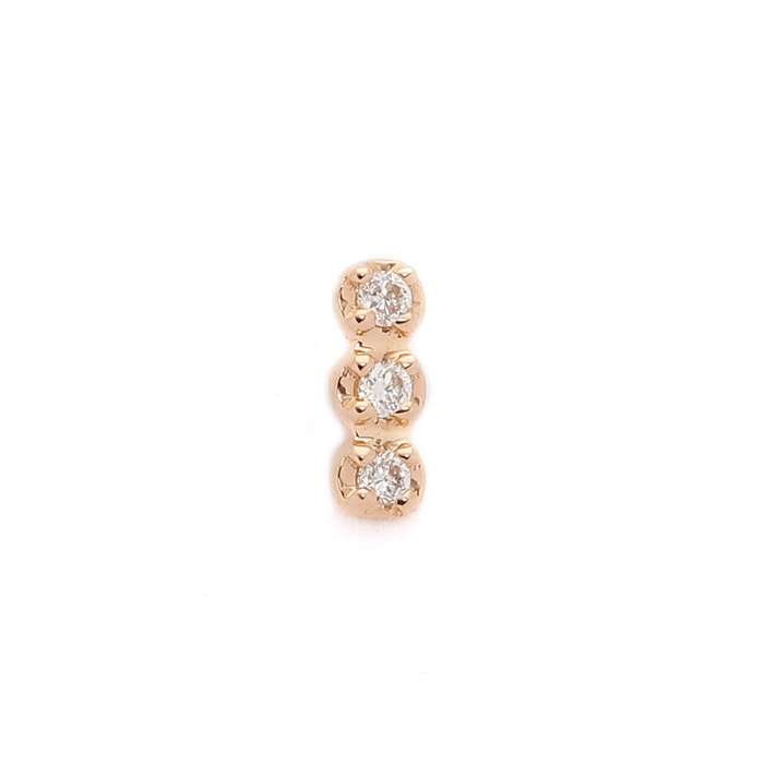 Best Diamond Jewelry Under $500 - ginette_ny Solo Diamond Strip Stud Earring