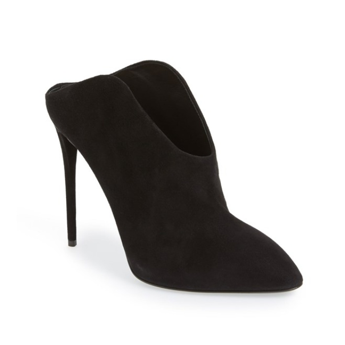Best Pumps To Splurge On This Fall - Giuseppe Zanotti Suede Mule