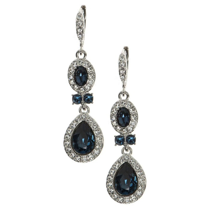 Best Something Blue Ideas - Givenchy Pear Double Drop Earrings