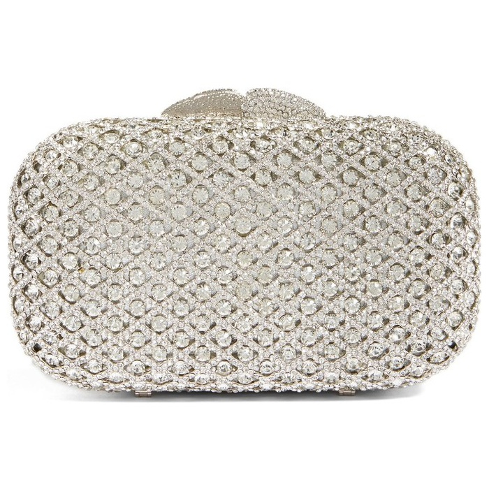 Best Bridal Handbags - Glint Crystal Lattic Minaudière Clutch