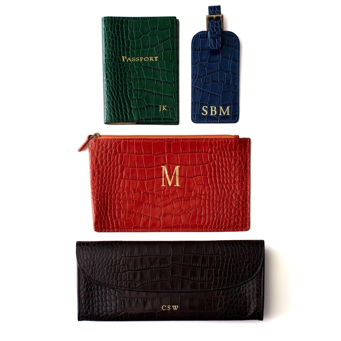 Best Best Clutches & Small Leather Accessories - Graphic Image Python and Crocodile-Embossed Travel Accessories