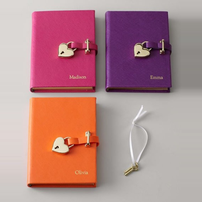 Best Personalized Gifts - Graphic Image Saffiano Lock Diary