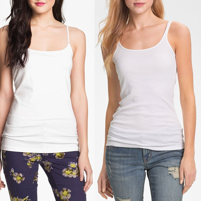 Best White Tank Tops - Halogen 'Absolute' Camisole & 'Skinny Strap' Tank