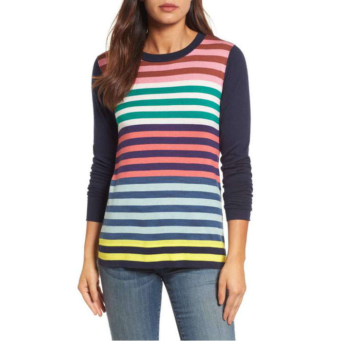 Best Rainbow Fashion Pieces - Halogen Colorblock Stripe Sweater