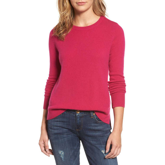 Best Women's Cashmere Sweaters Under $200 - Halogen Crewneck Cashmere Sweater