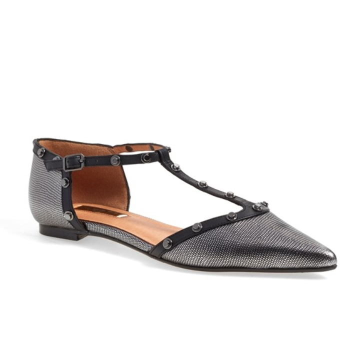 Best Flats Under $100 - Halogen Olson Pointy Toe Studded T-Strap Flat