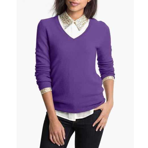 Best Cashmere Sweaters - Halogen V-Neck Cashmere Sweater