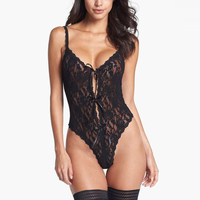 Best Lingerie Under $100 - Hanky Panky Signature Lace Open Gusset Teddy