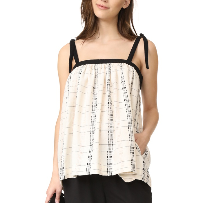 Best Maternity Summer Blouses - Hatch The Bow Tie Tank