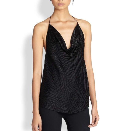 Best Ten Winter Date Night Musts - Haute Hippie Alligator Jacquard Halter Camisole