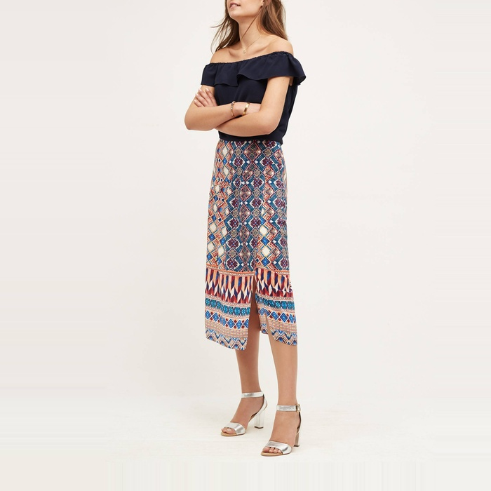 Best Midi Skirts Under $200 - HD in Paris Wrapped Silk Skirt