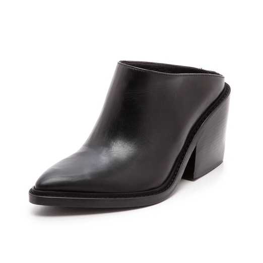 Best Mules for Fall - Helmut Lang Pointed Toe Mules