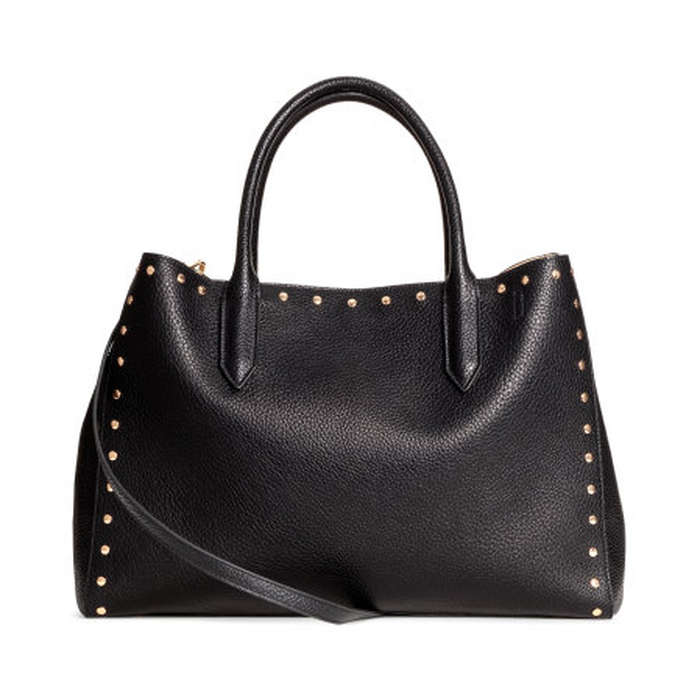 Best Embellished Handbags - H&M Shopper With Studs