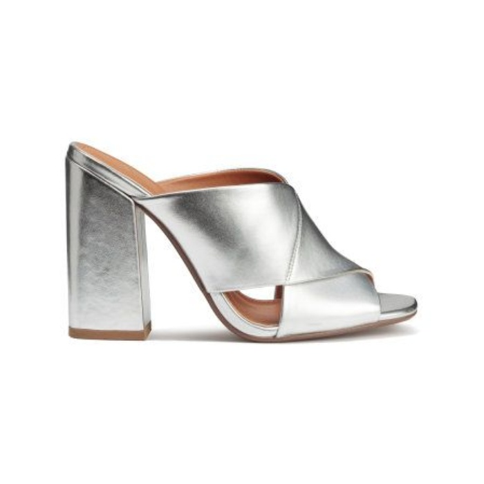Best Metallic Shoes Under $150 - H&M Silver Colored Mules
