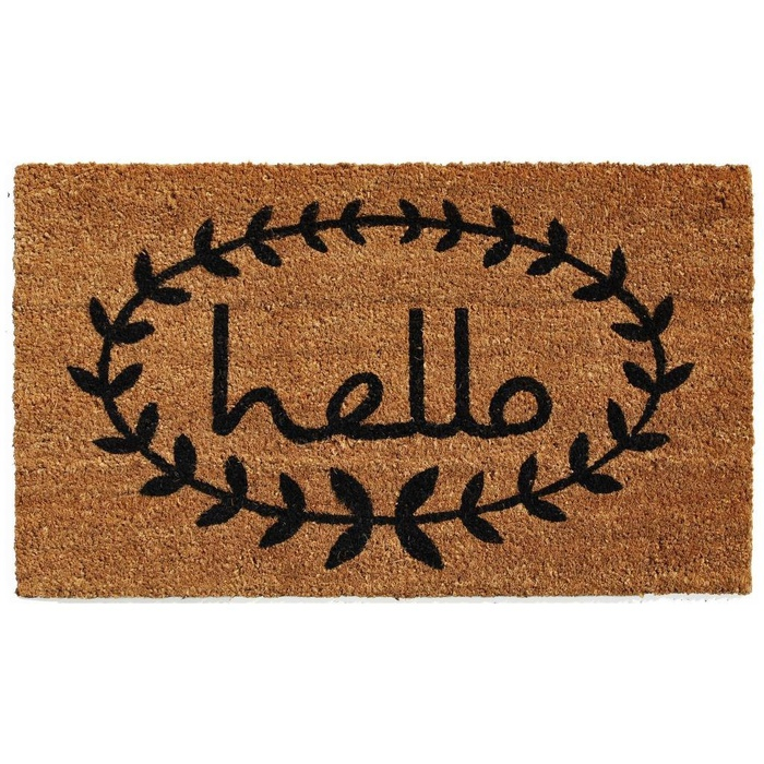 Best Doormats - Home & More Calico Hello Doormat