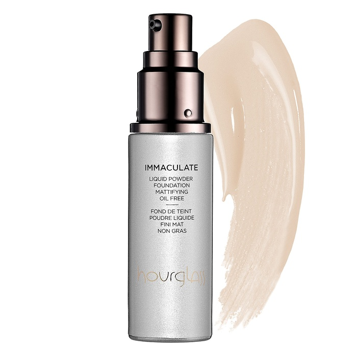 Best Oil-Free Foundations For Summer - Hourglass Immaculate Liquid Powder Foundation Mattifying Oil Free