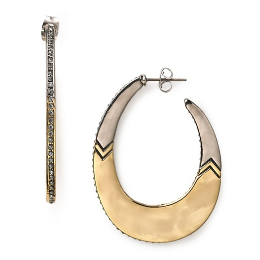 Best Ten Tribal Themed Bests - House of Harlow 1960 Modern Tribal Hoop Earrings