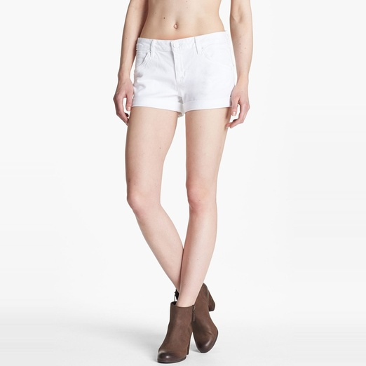 Best White Denim Shorts - Hudson Hampton Cuffed Short Short in White