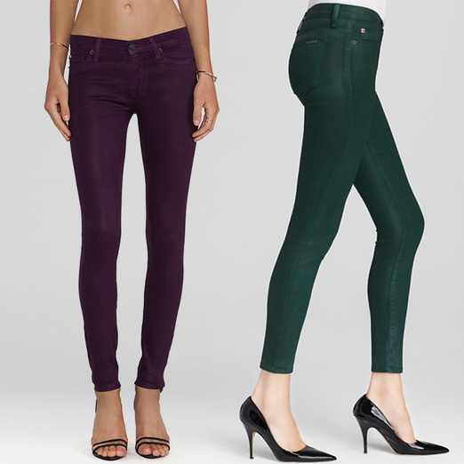 Best Jewel-Toned Denim - Hudson Jeans Nico Super Skinny