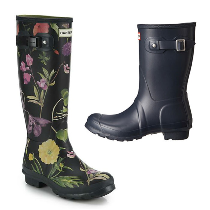 Best Rain Boots - Hunter Original Short & RHS Tall Floral Print Rain Boots