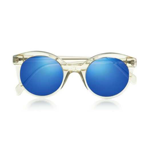 Best Blue Hued Bests - Illesteva White Chapel Cat Eye Acetate Sunglasses