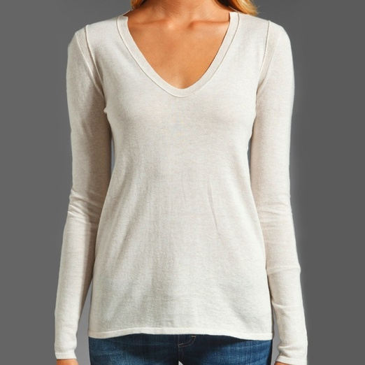 Best Cashmere Sweaters - Inhabit Cotton Cashmere V Neck