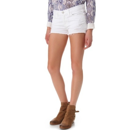 Best White Denim Shorts - J BRAND 1046 Low Rise Cutoff Shorts