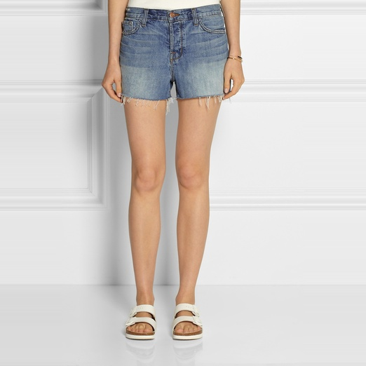 Best High Waisted Denim Shorts - J Brand Carly High Rise Denim Shorts