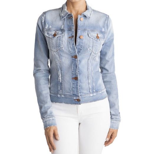 Best Denim Jackets - J Brand Haven Destructed Jean Jacket