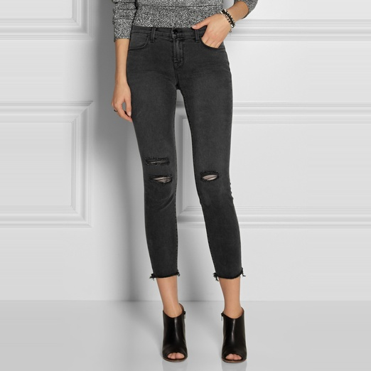 J Brand Photo Ready Cropped Mid Rise Skinny Jeans | Rank & Style