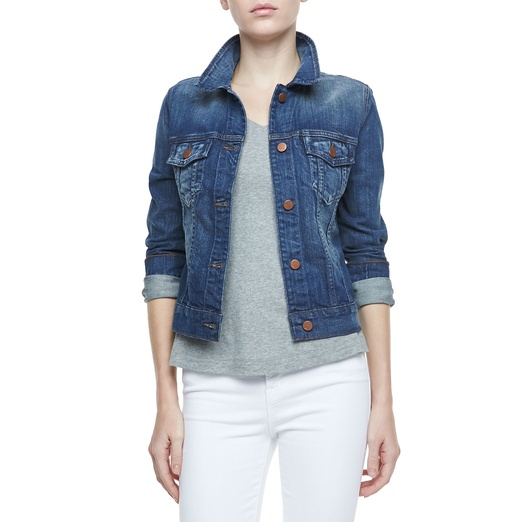 Best Denim Jackets - J Brand Slim Fitted Denim Jacket