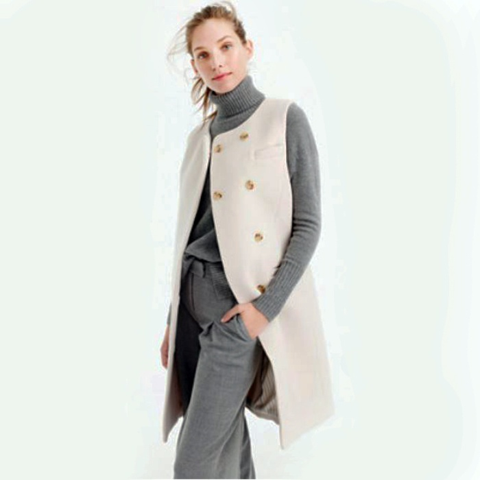 Best Fashion Vests - J. Crew Belted Vest in Italian Wool