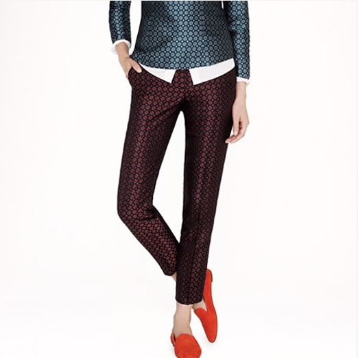 Best Printed Pants - J. Crew J.Crew Café Capri in Diamond Foulard