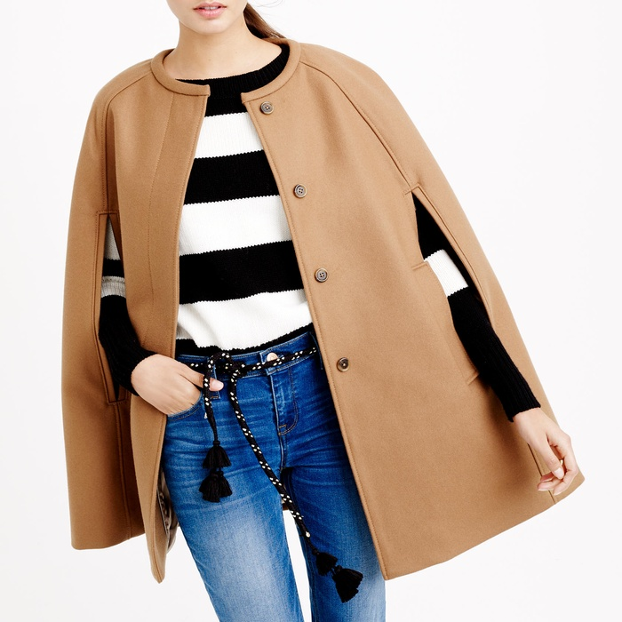Best Cape Coats and Blazers - J. Crew Cape Jacket in Wool Melton