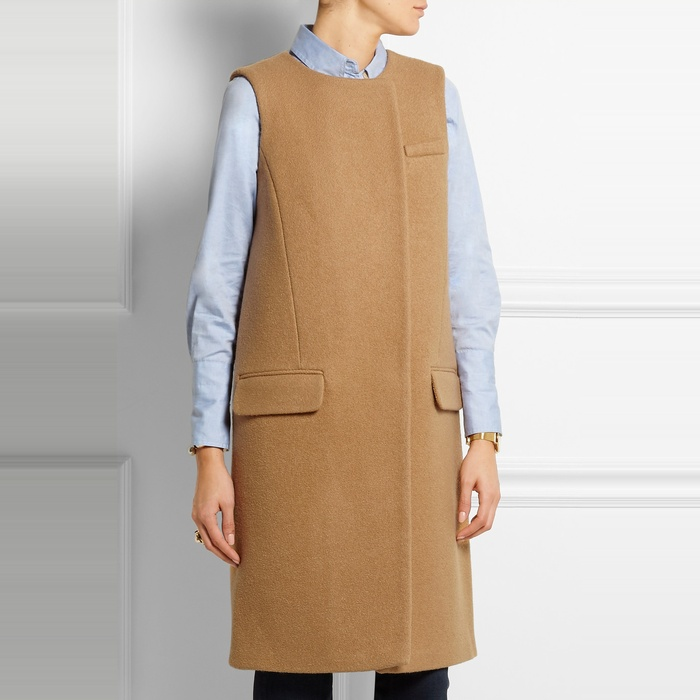Best Long Vests - J. Crew Collection Cora Boiled Wool Gilet