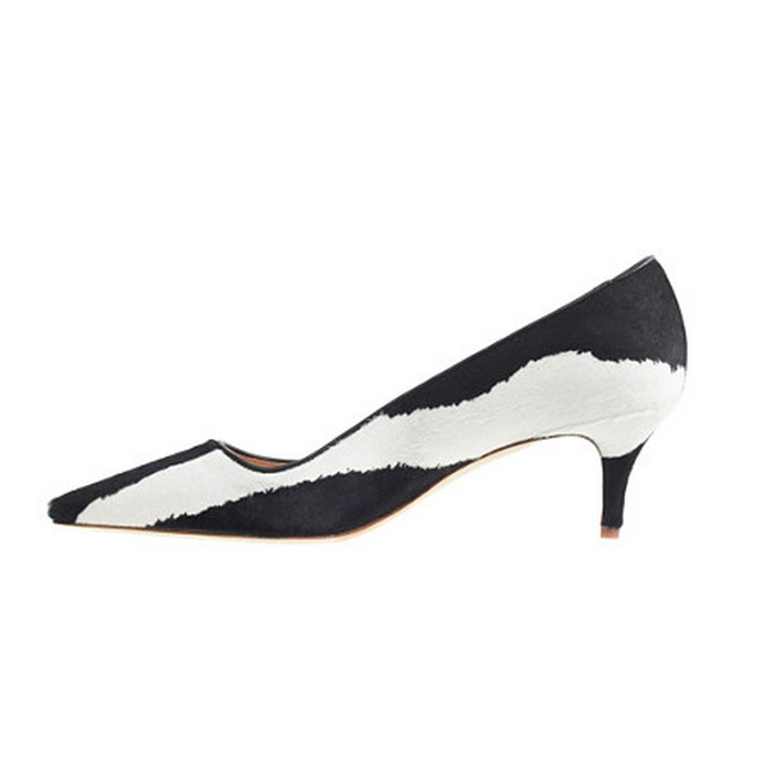 Best Pumps To Splurge On This Fall - J.Crew Collection Dulci Calf Hair Kitten Heels