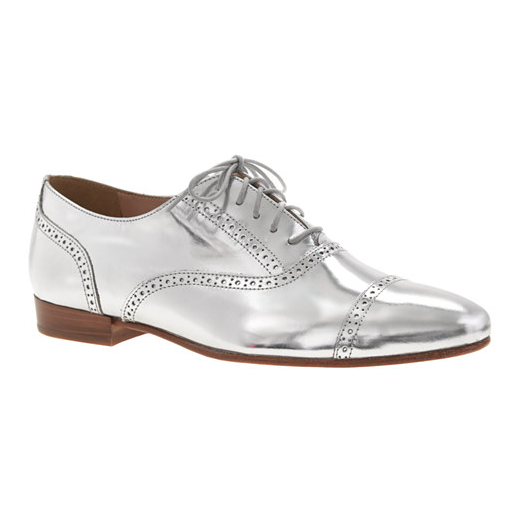 Best Oxford Shoes - J.Crew Metallic Mirror