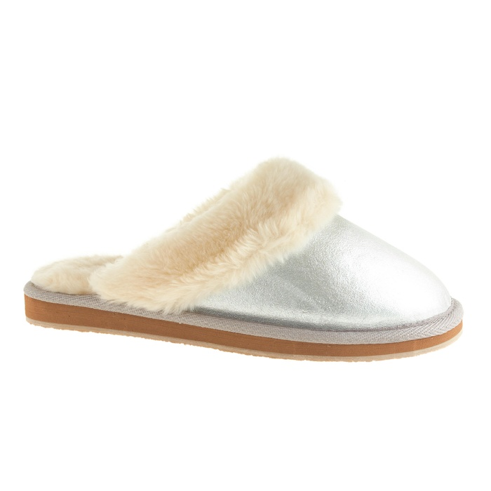 Best Presents for the Nester - J.Crew Metallic Shearling Scuffs