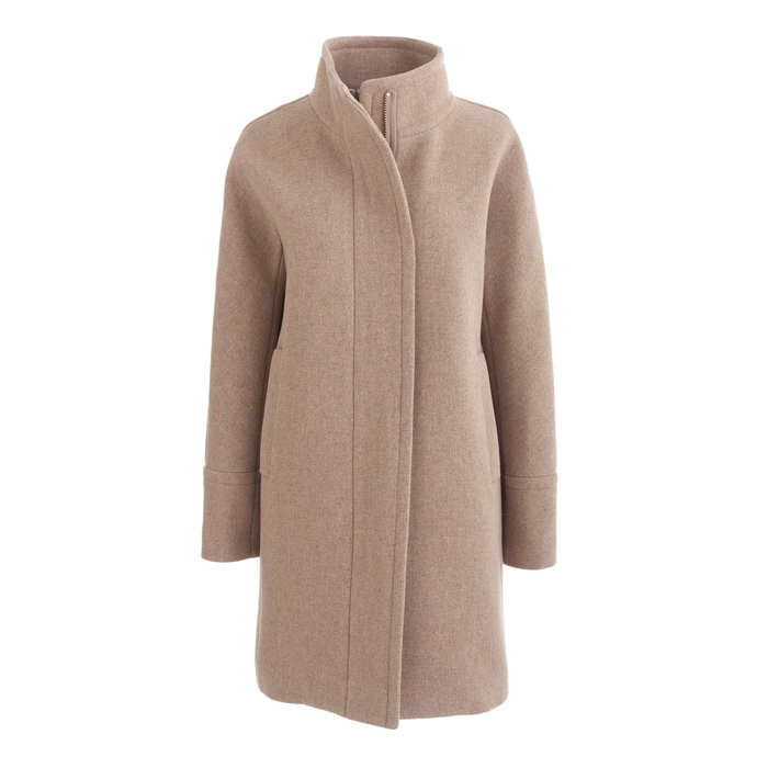 Best Camel Coats - J.Crew Stadium Cloth Cocoon Coat