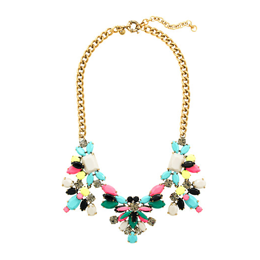 Best Statement Necklaces - J.Crew Technicolor Floral Necklace